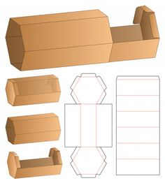 Box packaging die cut template design mock-up vector image on VectorStock Box Packaging Templates, Food Box Packaging, Packaging Design, Packaging Ideas, Packing Box Design, Packing Boxes, Diy Gift Box, Diy Box, Gift Boxes