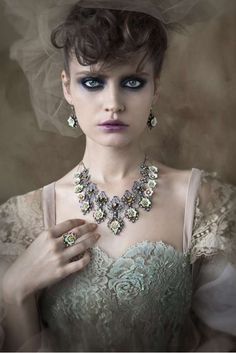 Vixen Victorian Jewelry - The Michal Negrin 2011 Jewelry Collection is Vintage and Chic (GALLERY) Victorian Jewelry, Victorian Gothic, Victorian Fashion, Vintage Jewelry, Vintage Fashion, Victorian Makeup, Victorian Bride, Modern Victorian, Vintage Style