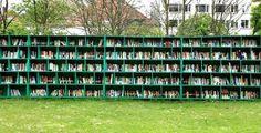 Уличная библиотека Bookyard в Бельгии.