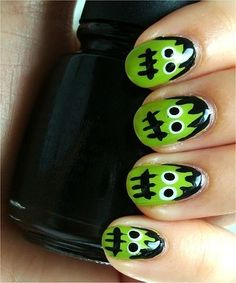 Perfect easy to do halloween nail art