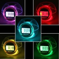 7-color Changing Lights Nature Sounds LED Digital Alarm Snooze Clock with Thermometer & Ti. ECA LISTING BY Eshopping, Kajang, Malaysia. Sale ends June 14th!