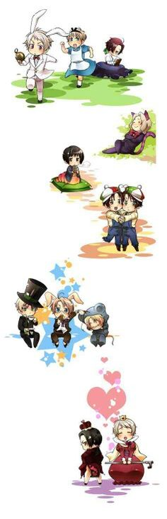 Chibi Hetalia in Wonderland