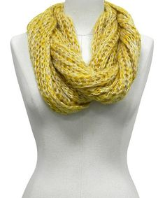 Take a look at this Yellow Heather Infinity Scarf by Rikka Scarves on #zulily today!