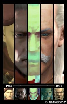 Revolver Ocelot over the years Metal Gear Solid Ps1, Metal Gear V, Metal Gear Solid Series, Metal Gear Rising, Geeky Wallpaper, Gaming Wallpapers, Video Game Art, Video Games, Metal Gear Survive