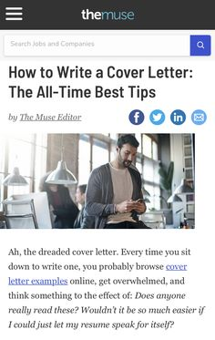 Writing A Cover Letter, Cover Letter Example, Best Advice Ever, Good Advice, Tiffin Box, Need To Know, All About Time, Good Things, Lettering