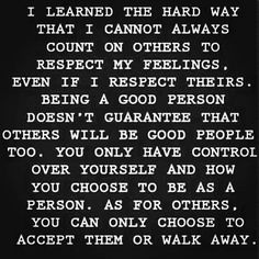 Accept them or walk away.