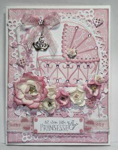 Unnis Papirhobby: DT bidrag Card and Scrap - Babykort