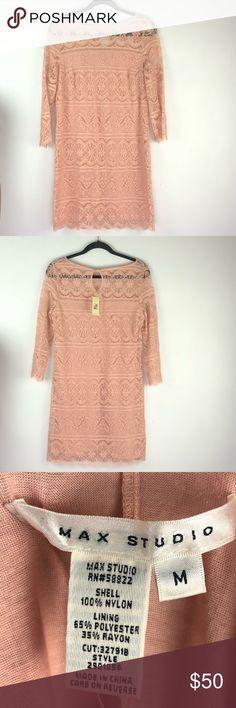 18ea949647ca NWT Max Studio Pink Lace Dress Medium NWT Max Studio Pink Lace Dress Dress  is full