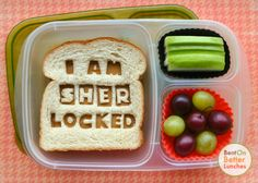 Sherlock bento school lunch + ThrifTee Gear Lunch Bag Giveaway!