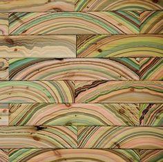 Colorful Floor&Wall Patterns by Pernille Snedker Hansen [Video - Wood Parquet Wood Floor Pattern, Floor Patterns, Wall Patterns, Marble Pattern, Tree Patterns, Into The Woods, Parquet Flooring, Wooden Flooring, Hardwood Floors