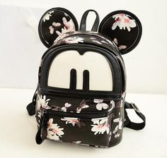 908314561a6b japanese backpacks with ears women s bag Korean Mouse Mickey shoulder bag  women s small backpack school bag leather backpack