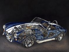1965 Shelby Cobra 427 (MkIII) - Illustrated by David Kimble