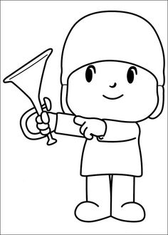 Desenhos para pintar Pocoyo 28