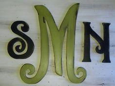 monogram for bedroom wall