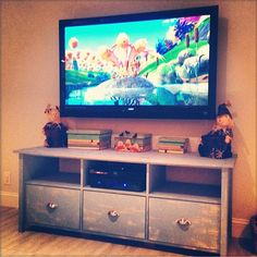 Rustic TV Console Stand w/ Drawers // 3 Console TV Stand // Rustic TV Stand // // // // // Living Room // Tv Console from Mayhem Furniture Rustic Tv Console, Console Tv, 3 Drawer Tv Stand, Long Tv Stand, Modern Tv Room, Entertainment Center Makeover, Living Room Tv, Tv Cabinets, Playroom