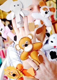 Titeres de dedo tejidos a crochet :lodijoella