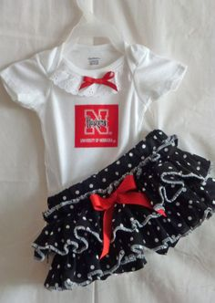 Nebraska Corn Huskers Boutique Ruffled by NeedlesKnotsnBows
