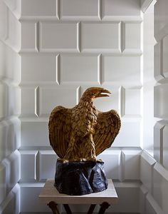 an interesting take on the subway tile style by Steven Gambrel