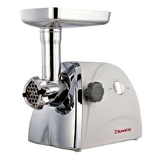 Sunmile 1HP 5# UL Electric Meat Grinder W/250W Rated Power 800W Max Power SM-G31, W/Full Set Of Accessories,Stainless Steel Cutting Blade,Stainless Steel Cutting Plates and Sausage Stuffing, UL Certificated and 1-Year Manufacturer Warranty by Sunmile. $57.99. Full set of accessories including 1 stainless steel cutting blade, 3 various stainless steel Cutting plates,1 set of kubbe attachment, 1 plastic food pusher; Detachable aluminum tube, screw; 250W rated power...