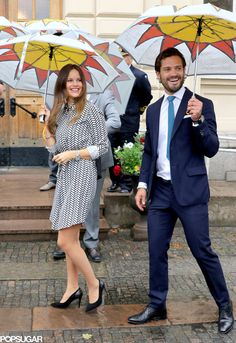 Princess Sofia of Sweden and Prince Carl Philip of Sweden (Duke and Duchess of Värmland) on the 2nd day of the 2 day visit to Varmland on August 27, 2015.
