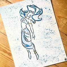 Kida from Disneys Atlantis painted in watercolor! I love the way the colors came… Kida Disney, Princesa Disney, Disney Love, Disney Art, Disney Princes, Mickey Mouse Tattoos, Disney Tattoos, Kida Atlantis, Princess Kida