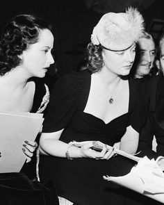 """barbarastanwyck: """" Merle Oberon and Myrna Loy participating in Bundles For Britain, 1940 """""""