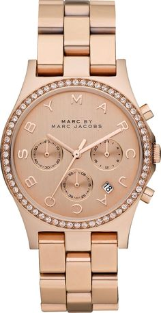 women's watches: Review for Marc by Marc Jacobs MBM3118 Ladies Rose Gold Henry Chronograph Watch
