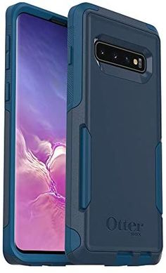 Amazon.com: OtterBox COMMUTER SERIES Case for Galaxy S10 - Retail Packaging - BESPOKE WAY (BLAZER BLUE/STORMY SEAS BLUE) Dark Purple Wallpaper, Discount Electronics, Stormy Sea, Aroma Diffuser, Tote Pattern, The Life, Screen Protector, Retail Packaging, Samsung Galaxy