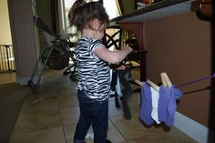 Mess For Less: Frugal Fun Ideas Part 1--  Hanging socks