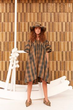 Henrik Vibskov Lava Dress - Verde Checks | Garmentory Mid Length, Lava, Boutique, Printed Matter, Dresses, Design, Style, Products, Fashion