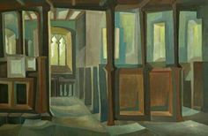 Interior of Dale Church, Derbyshire by John Lally, 1950s