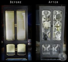 Refinish a china cabinet in this simple Step-by-Step tutorial | Swag Paper Premium Quality Wallcoverings