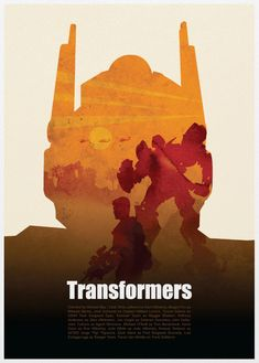 Transformers minimalist movie poster