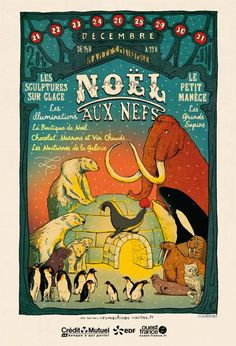Christmas exhibit poster from the les machines de l ile genius crew of nantes