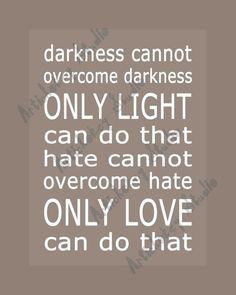 Only Light Only Love Print via Artichokey Studio on Etsy. #ArtichokeyStudio