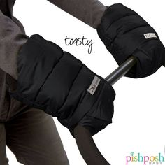 It might be mid February but it's still cold out there! Keep hands toasty on the go with stroller handmuffs from 7 A.M. ENFANT. Makes a great gift!  http://www.pishposhbaby.com/7-am-enfant-stroller-handmuffs-black-grey.html