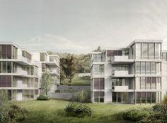 Meier/Hug Architekten, Lerchenbergstrasse Erlenbach Studienauftrag 2012, 1. Preis, Realisierung 2013–2016