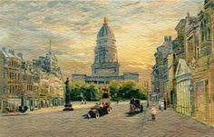 Castle Postcards - Offset Series  -  George Street