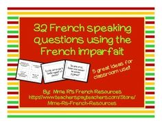 French imparfait speaking prompts and questions