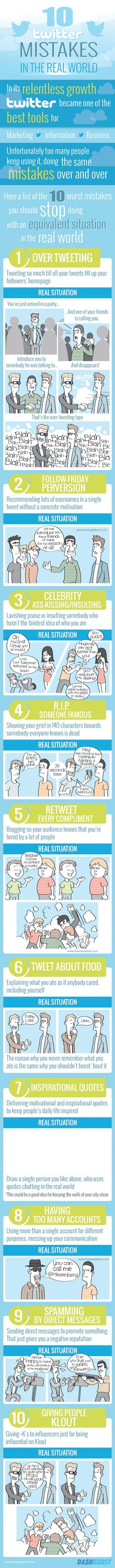 Things not to do on twitter #infographic