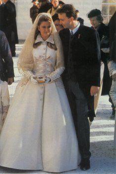 Wedding gown nr 6: Karl von Habsburg and Baroness Francesca von Thyssen-Bornemisza (Austria)