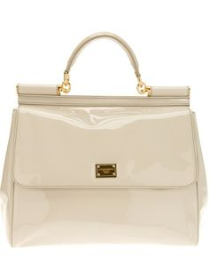 DOLCE and GABBANA Patent Logo Tote
