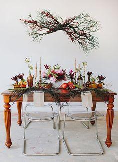 autumn inspired table setting