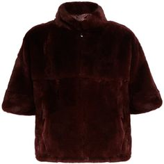 Diane Von Furstenberg Terry fur jacket (9,895 GTQ) ❤ liked on Polyvore featuring outerwear, jackets, burgundy jacket, diane von furstenberg, 3/4 sleeve jacket, evening jackets and diane von furstenberg jacket