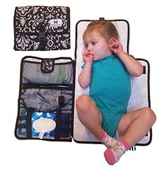 Luxury All in One Portable / Travel Diaper Changing Pad / Mat, Black & Grey Diaper Changing Pad, Luxury Travel, All In One, Black And Grey, Outdoor Blanket, Baby, Stress Free, Investing, Business