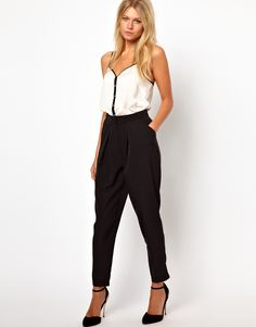 love this tank and trousers look