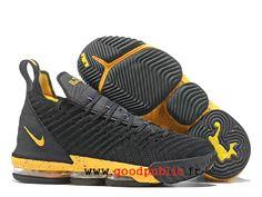 on sale cff68 602a8 Nouveau Nike LeBron 16 Chaussures De BasketBall Pas Cher Prix Homme Jaune  noir AO2588 I121-1810171251