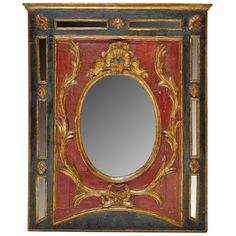 17th Century Italian Painted Mirror