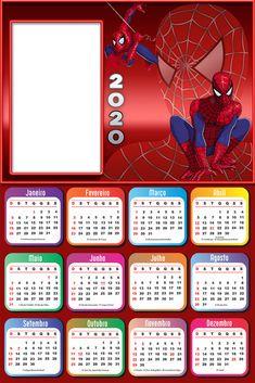 New Year Calendar, Photo Calendar, Kids Calendar, Calendar Design, 2021 Calendar, Disney Planes Party, Spiderman Kids, Photo Frame Design, Collage Frames