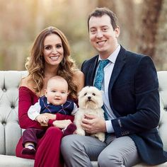 Kyle, Samantha, Brexton, and Lucy Busch's Christmas photo
